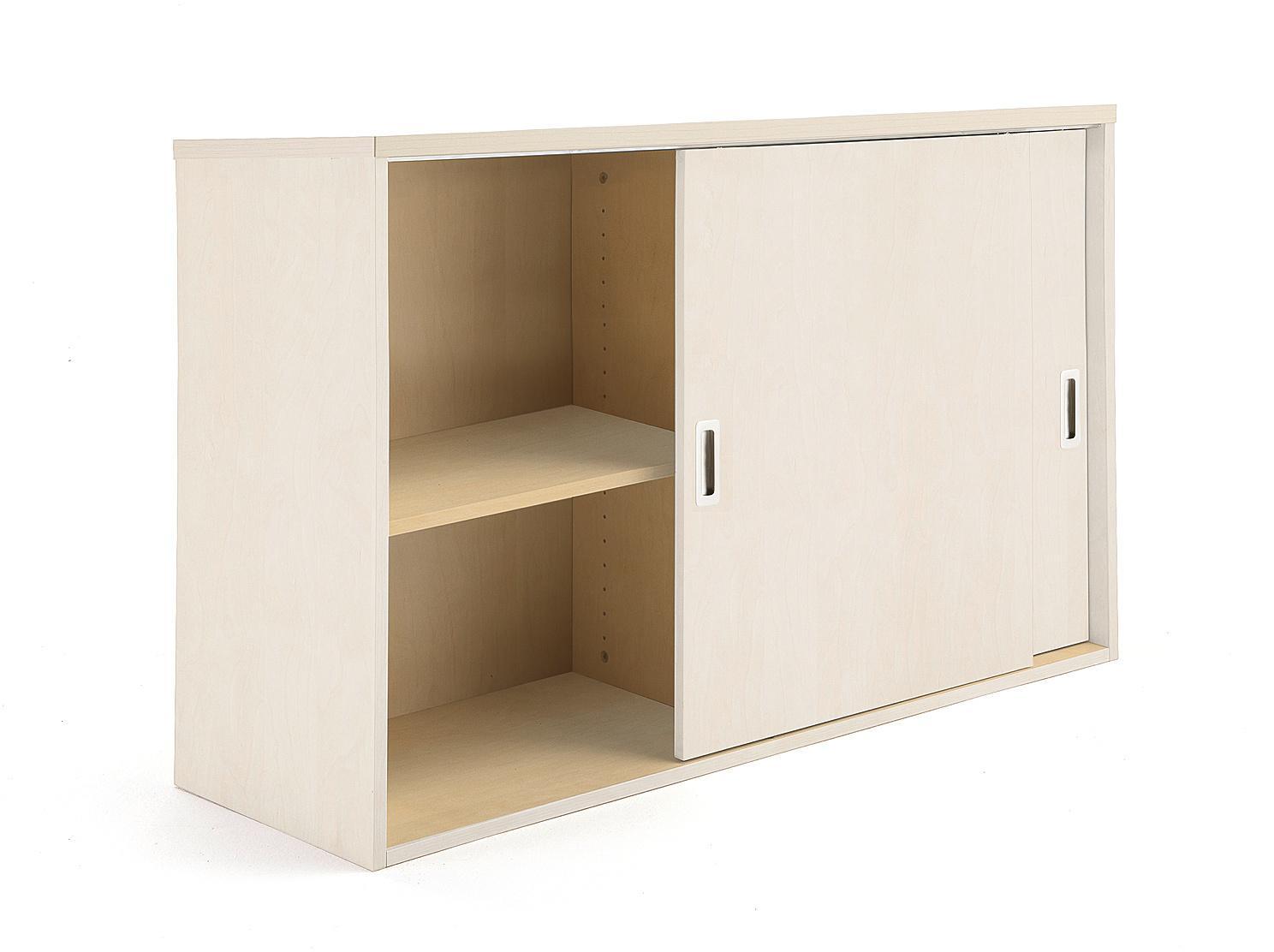 Kancelárska skriňa Modulus s posuvnými dverami, 800x1200 mm, breza