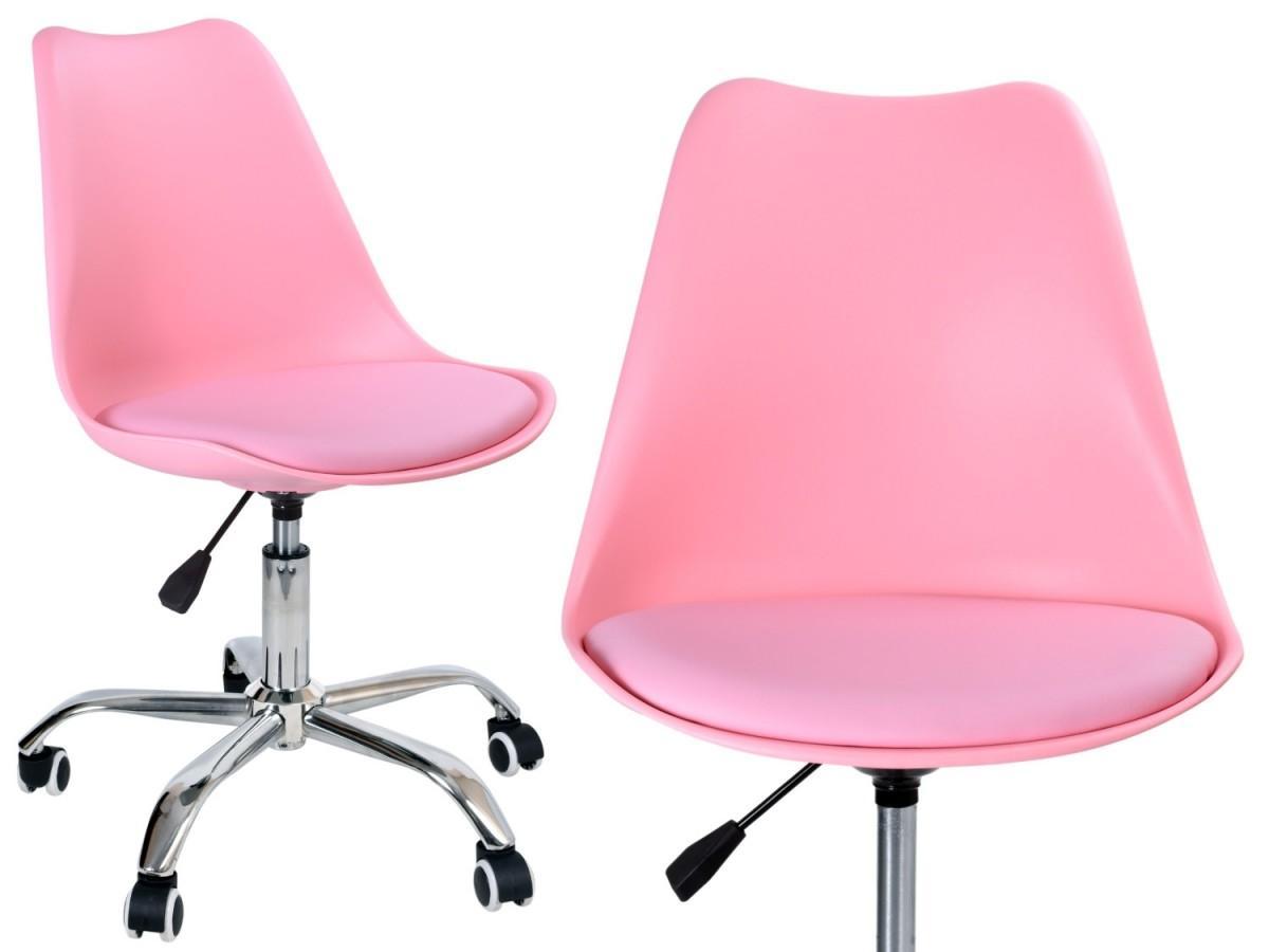 Kancelárska stolička EB-ELM ružová