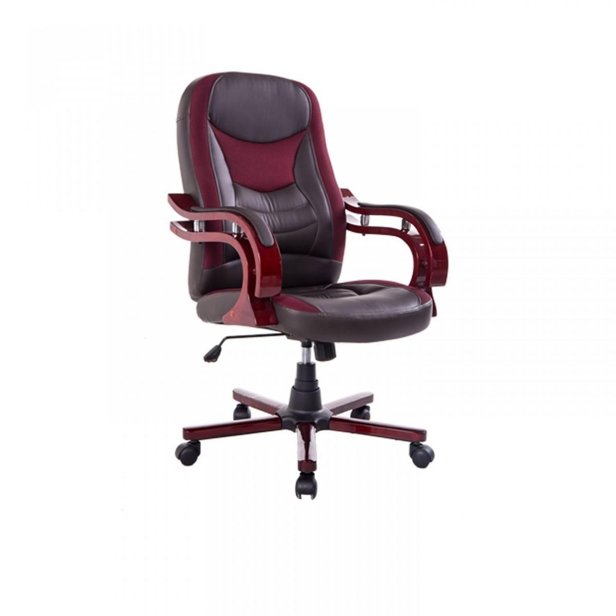 Kancelárska stolička - hnedo-červená