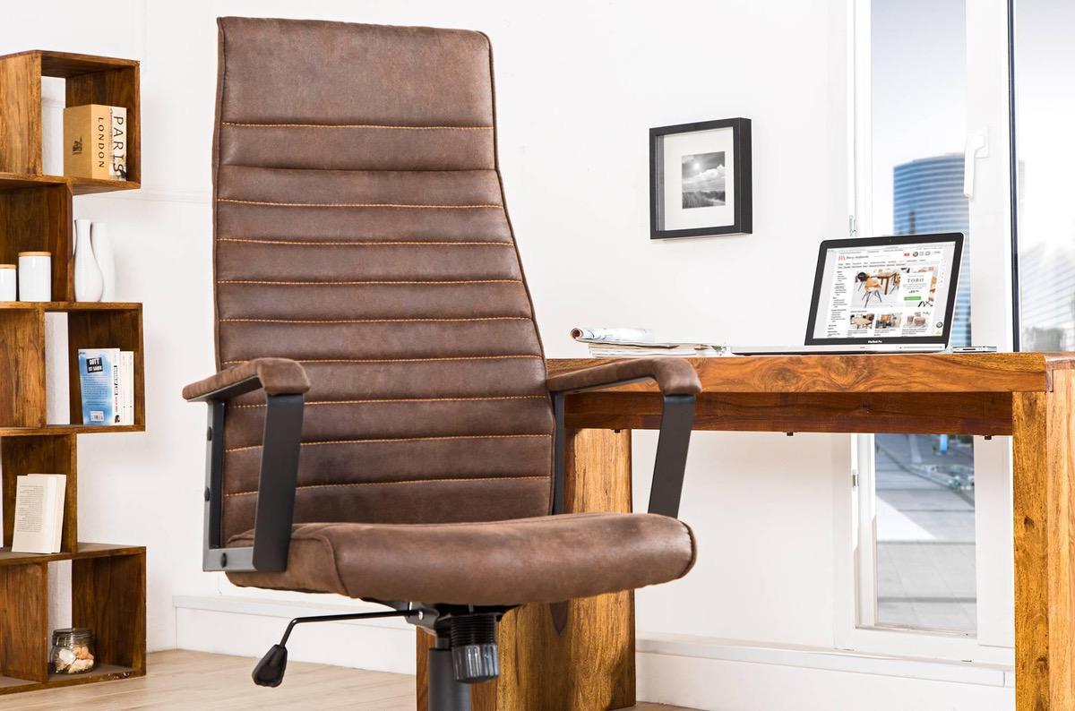Kancelárska stolička Roma Vintage hnedá 125cm