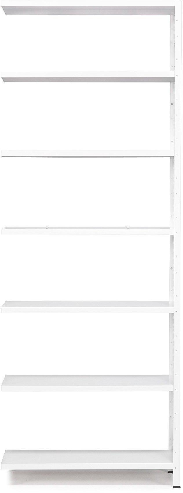 Kancelársky regál Light, prídavná sekcia, 2500x1005x300 mm, biely