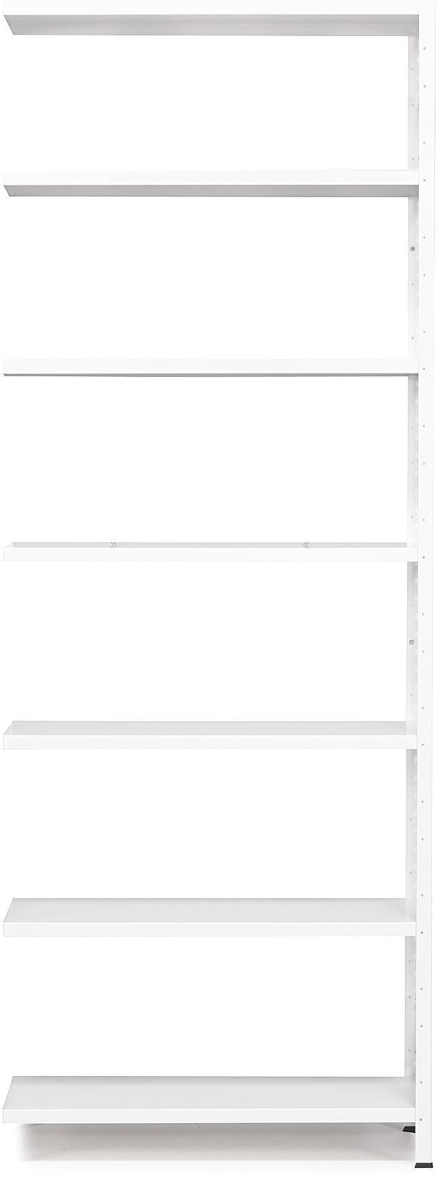 Kancelársky regál Light, prídavná sekcia, 2500x1005x400 mm, biely