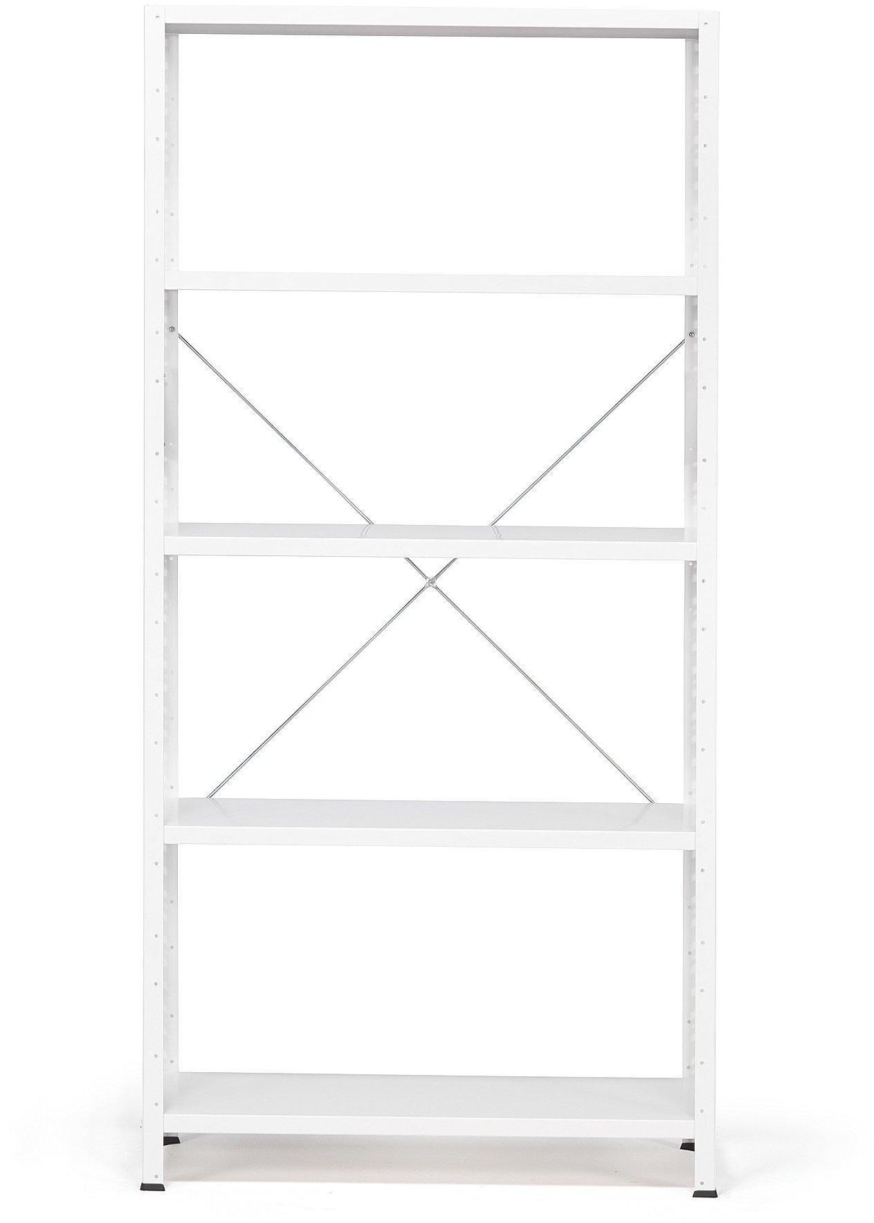 Kancelársky regál Light, základná sekcia, 1970x1010x400 mm, biely