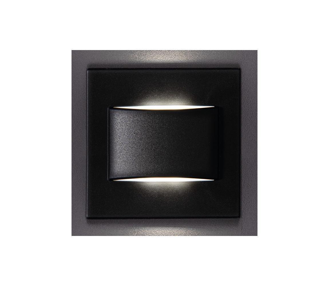 Kanlux 33417 - LED Schodiskové svietidlo ERINUS LED/1,5W/12V 4000K čierna