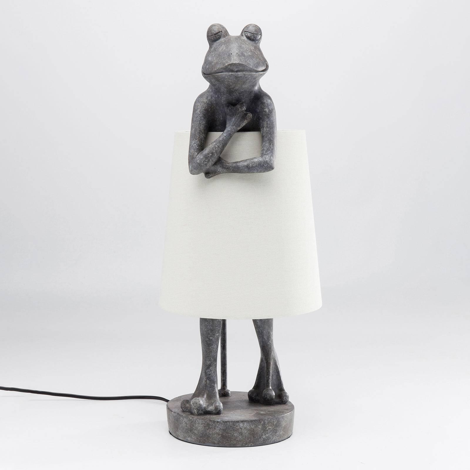 KARE KARE Animal Frog stolná lampa sivá