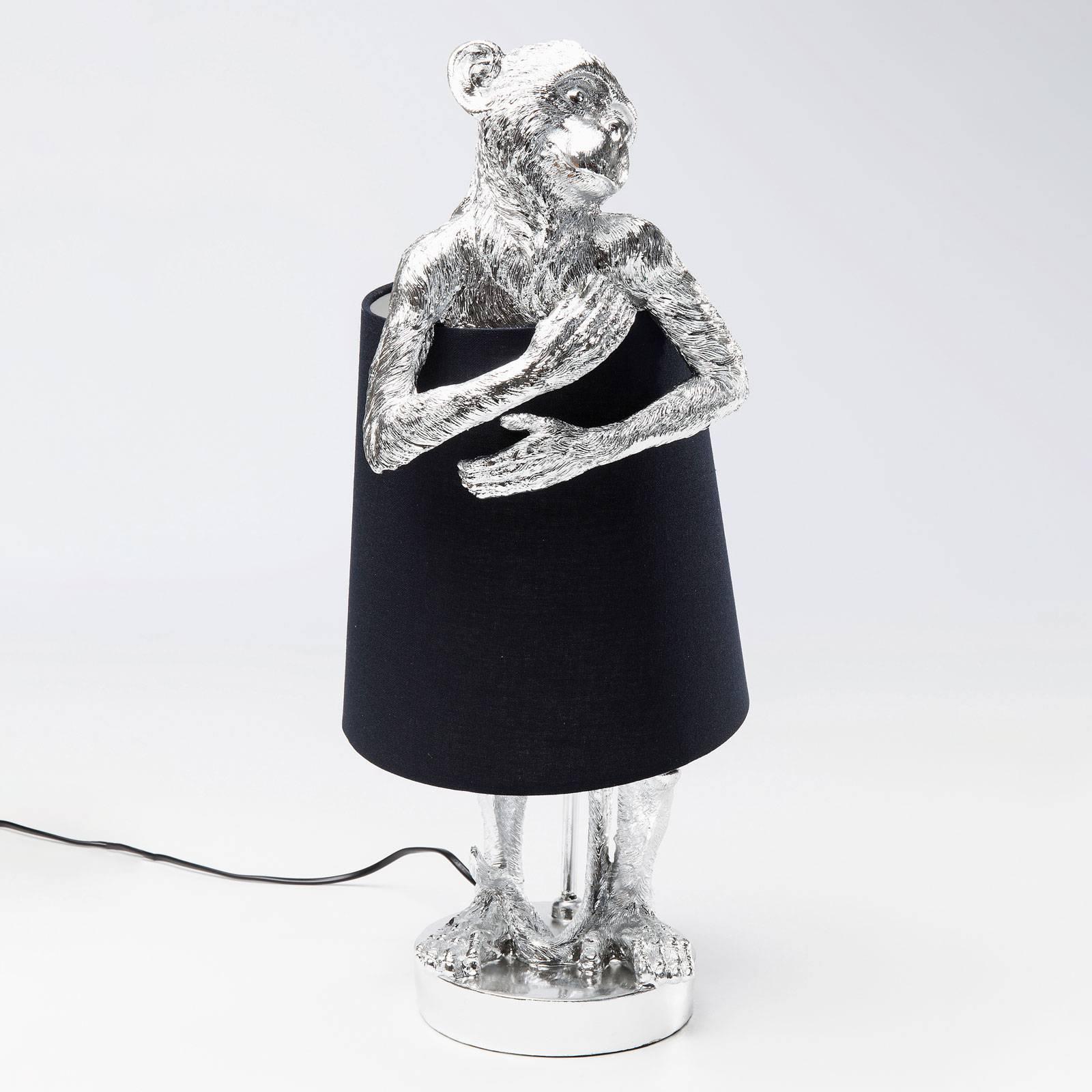 KARE KARE Animal Monkey stolná lampa strieborná/čierna