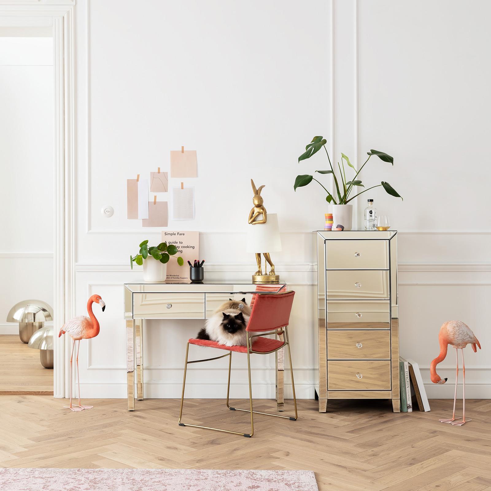 KARE KARE Animal Rabbit stolná lampa zlatá/biela