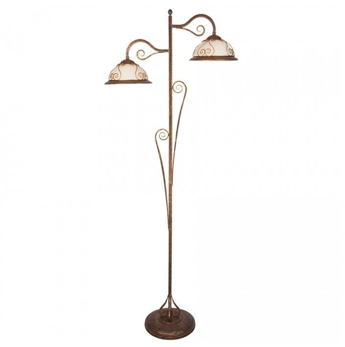 Kemar VE/LS - Stojacia lampa VERDA 2xE27/60W bronz