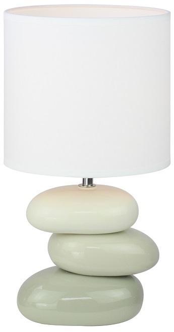 Keramická stolná lampa, biela/sivá, QENNY TYP 4 AT16275