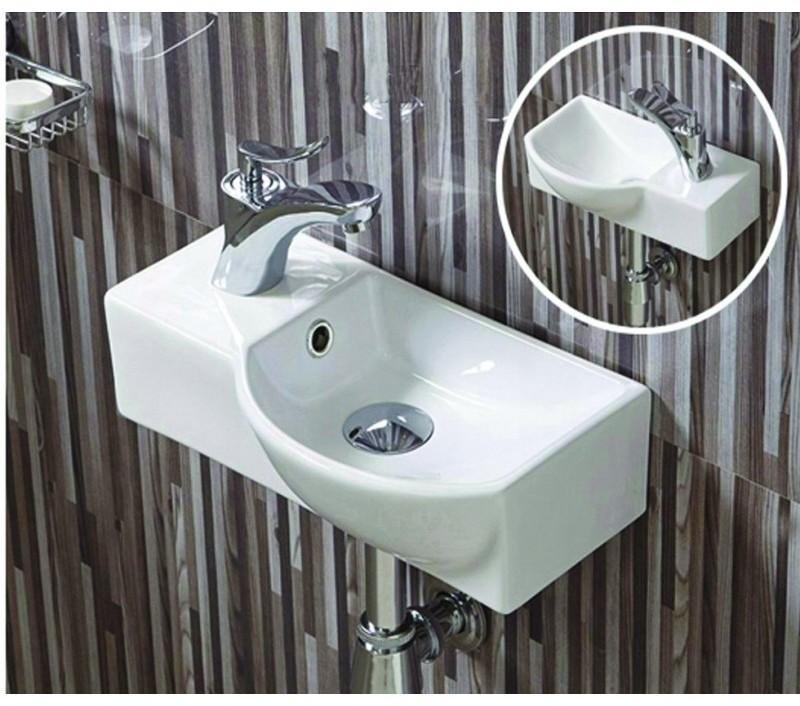 Keramické umývadlo klasické MEXEN HUGO 40x22,5 cm biele – pravé