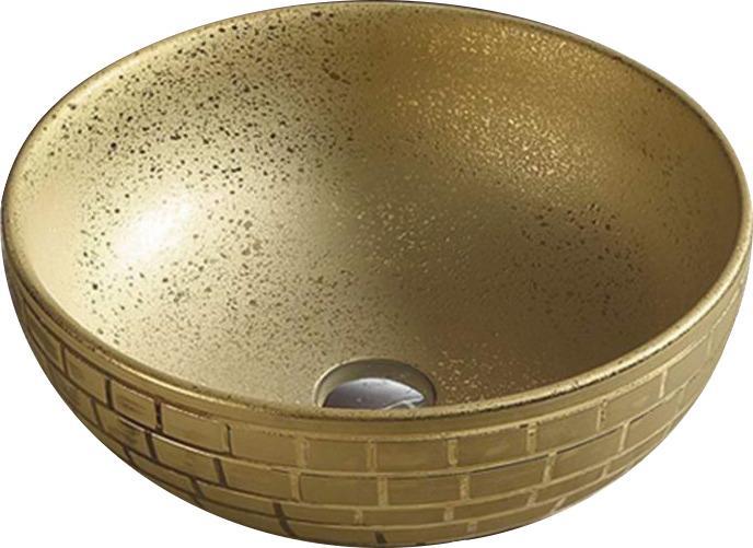 Keramické umývadlo na dosku MEXEN BRIANA zlaté