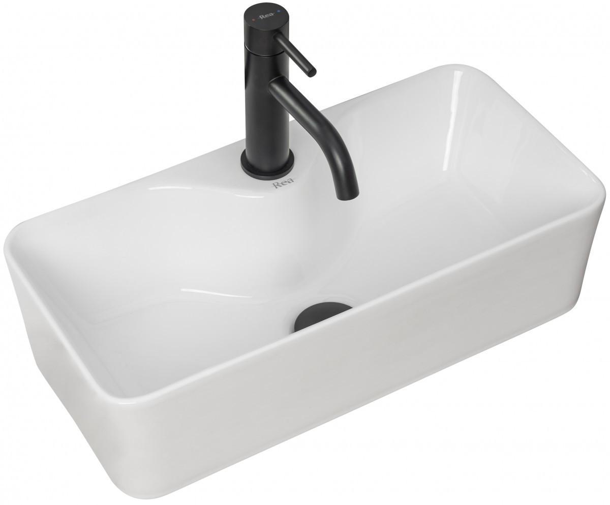Keramické umývadlo na dosku Rea Mery biele