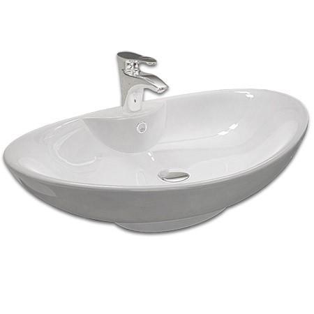 Keramické  umývadlo na dosku ROSA N 59 cm, biele