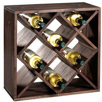 Kesper Stojan na víno, borovica tmavá 50 × 50 × 25 cm