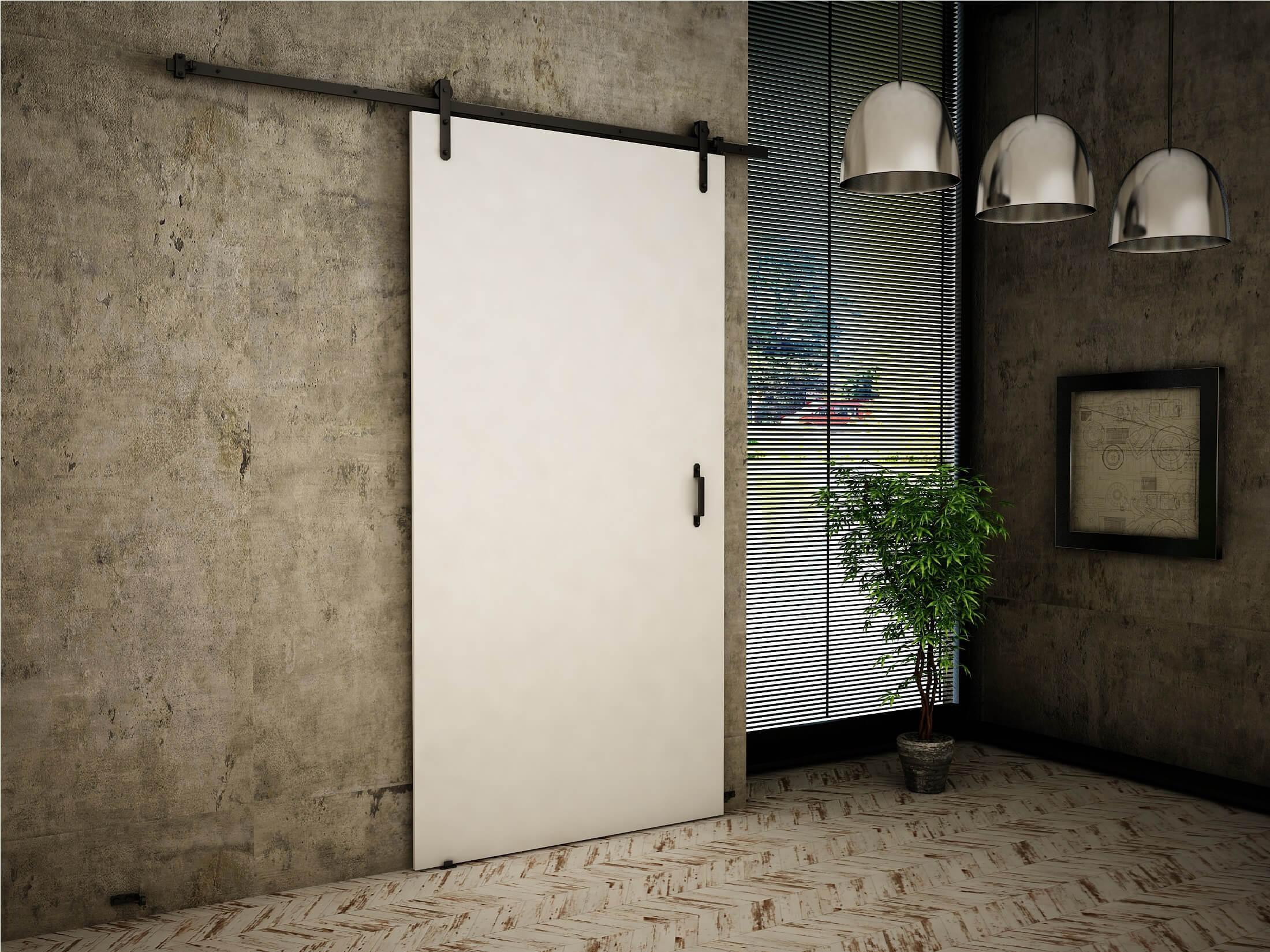 KF Posuvné dvere Clark 80/90/100 - biela Rozmer: 90, Automatické zatváranie: Nie