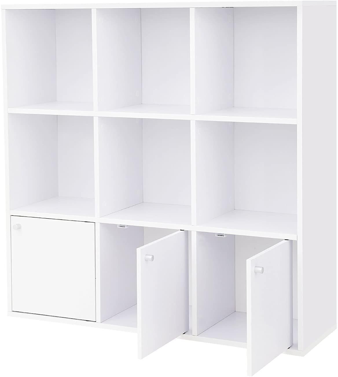 Knihovna VASAGLE Wooda bílá