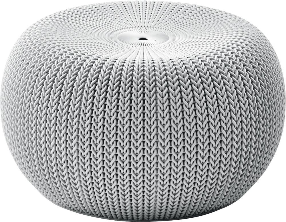 KNIT SINGLE SEAT (cozies) taburet - šedá