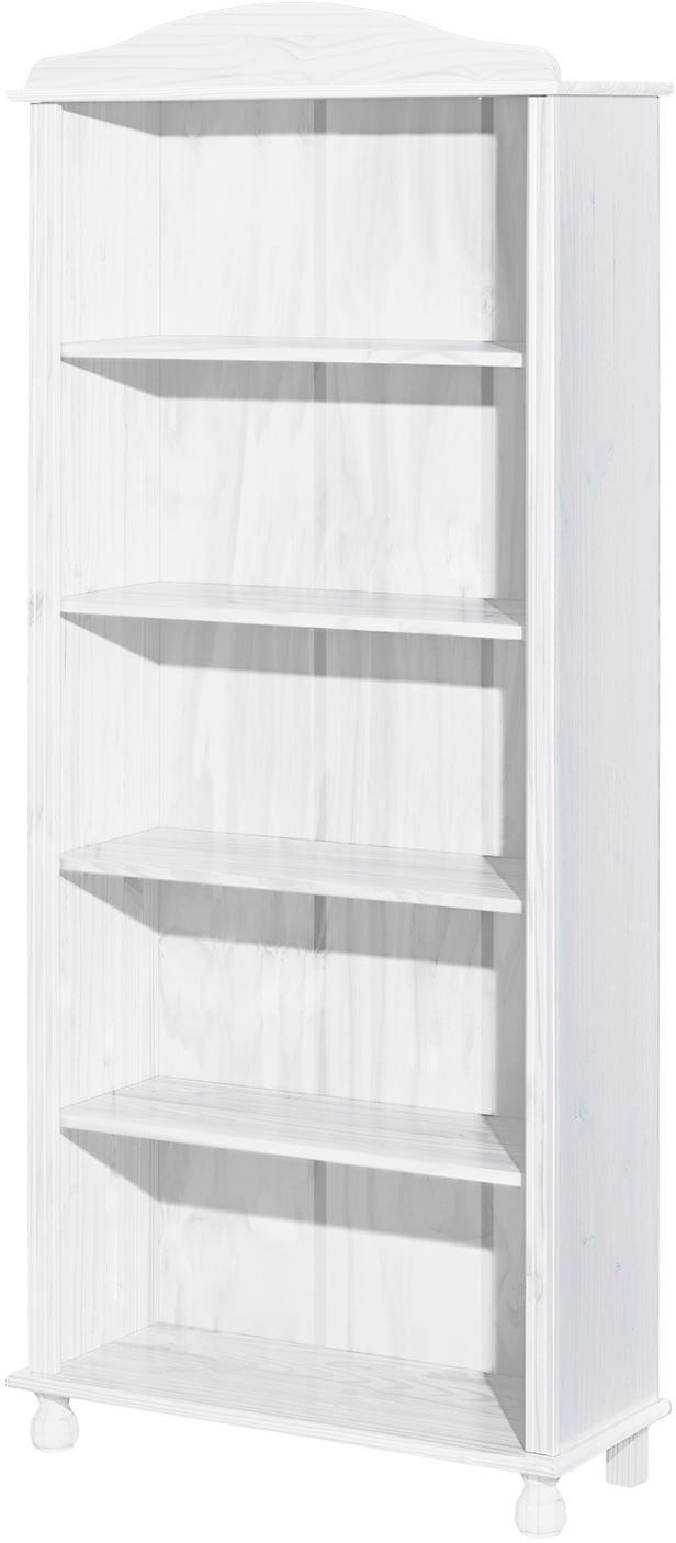 Knižnica 8048 masív biely lak