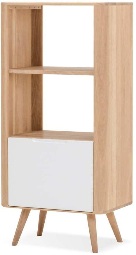 Knižnica z dubového dreva Gazzda Ena, 60 × 42 × 125 cm