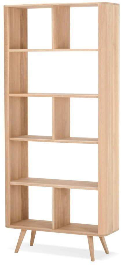 Knižnica z dubového dreva Gazzda Ena, 90 × 35 × 200 cm
