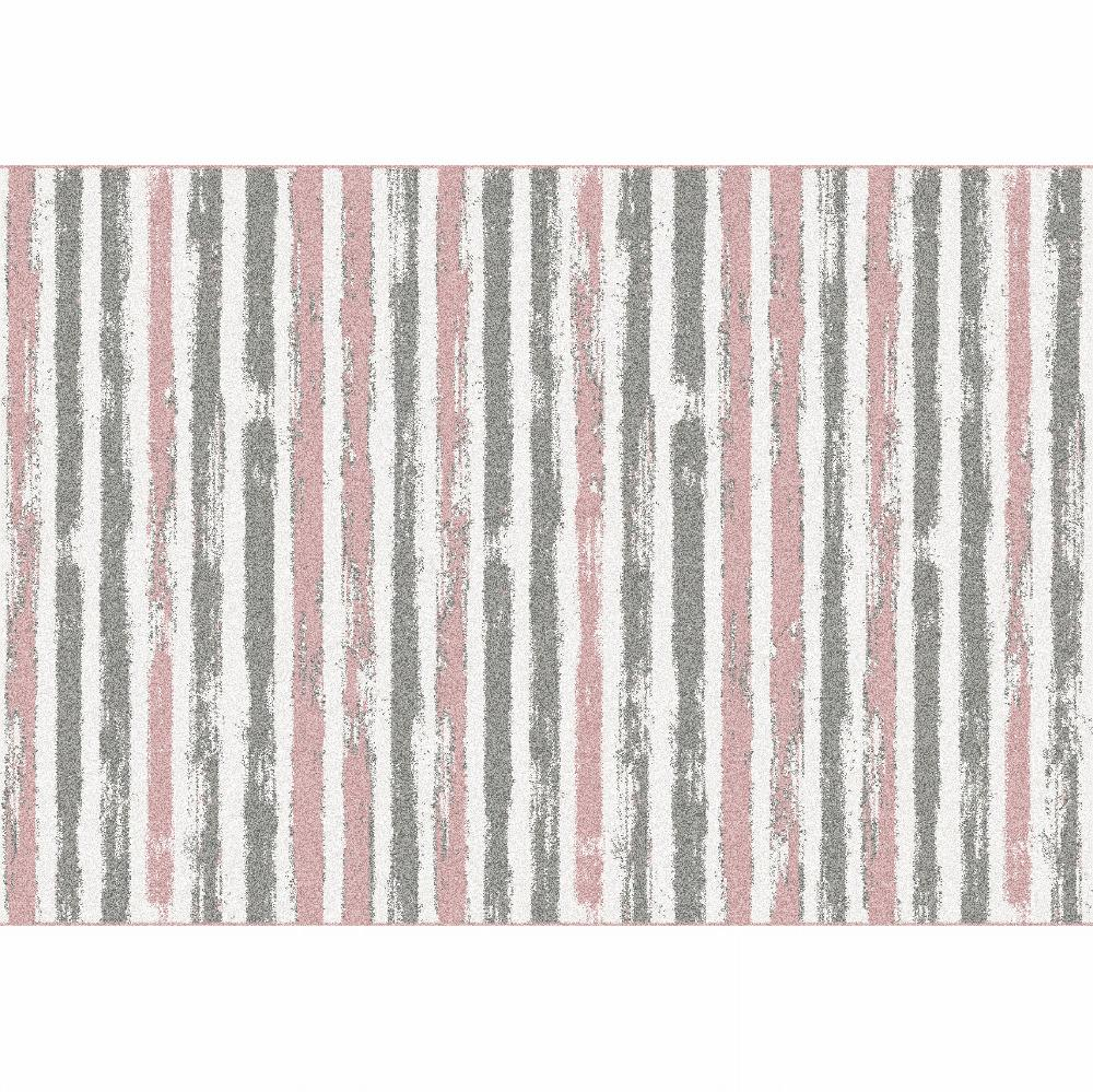 Koberec, ružová/sivá/biela, 57x90, KARAN