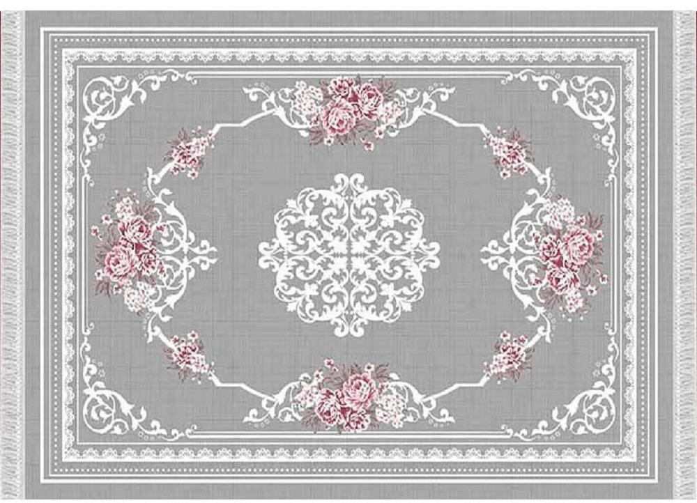 Koberec, sivá/kvety, 160X230, SEDEF TYP 2