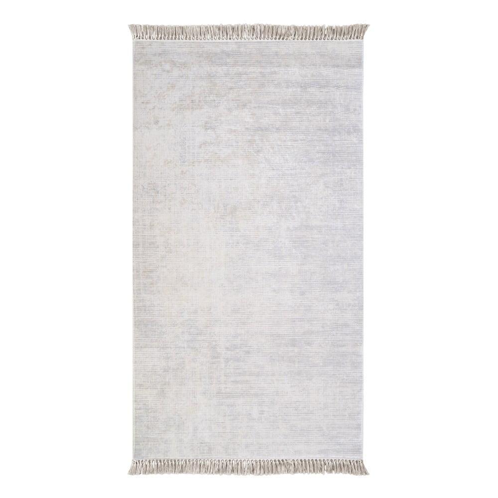 Sivý koberec Vitaus Hali Geometrik, 80 × 150 cm