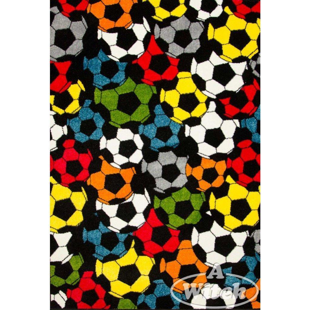 Kolibri Detský koberec Rainbow čiernožltý 160x230cm