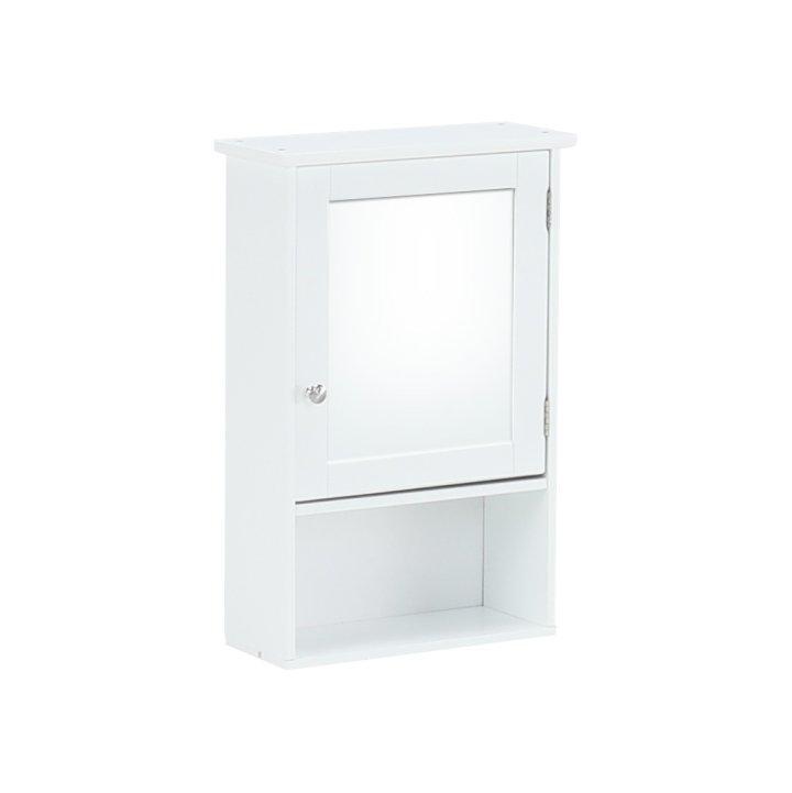 KONDELA Atene Typ 2 kúpeľňová skrinka so zrkadlom biela
