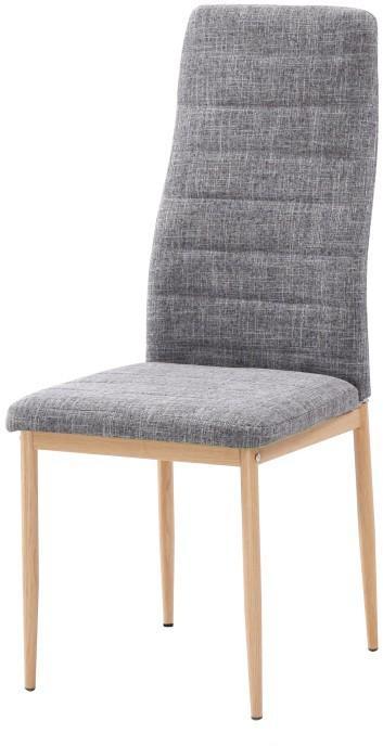 KONDELA Coleta Nova jedálenská stolička svetlosivá / buk