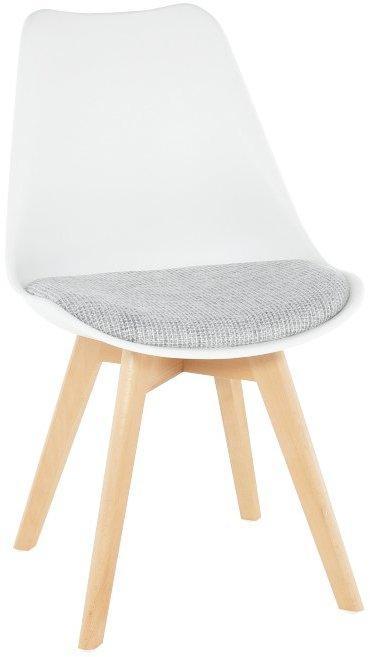 KONDELA Damara jedálenská stolička biela / sivá / buk
