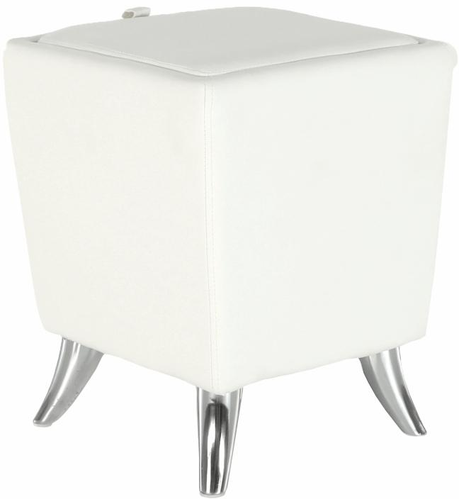 KONDELA Dars New taburetka s úložným priestorom biela