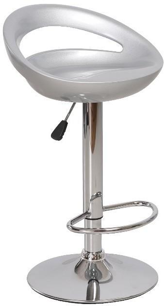 KONDELA Dongo HC-104 New barová stolička sivá / chrómová