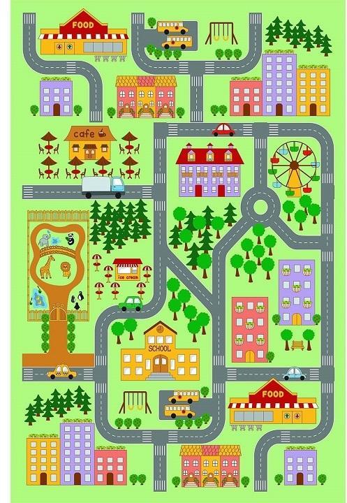 KONDELA Ebel koberec 100x150 cm kombinácia farieb