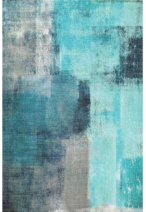 KONDELA Esmarina Typ 2 koberec 160x230 cm modrá / sivá