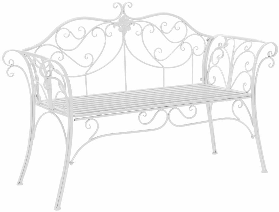 KONDELA Etelia záhradná lavička biela
