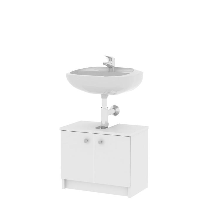 KONDELA Galena SI02 kúpeľňová skrinka pod umývadlo biela