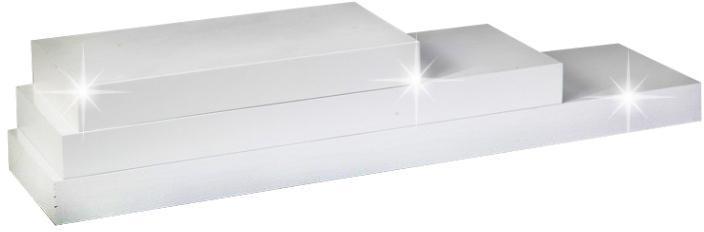 KONDELA Gana polica 120x25 cm biela