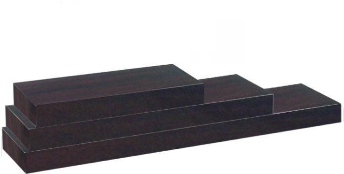 KONDELA Gana polica 120x25 cm čierna