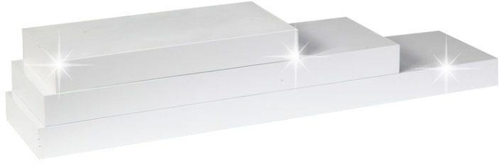 KONDELA Gana polica 60x25 cm biela