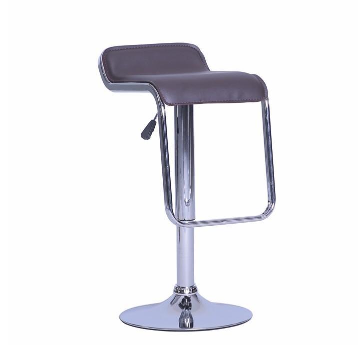 KONDELA Ilana barová stolička hnedá / chrómová