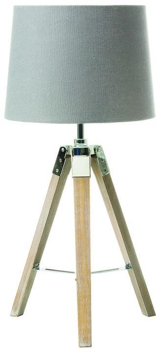 KONDELA Jade Typ 2 stolná lampa sivá