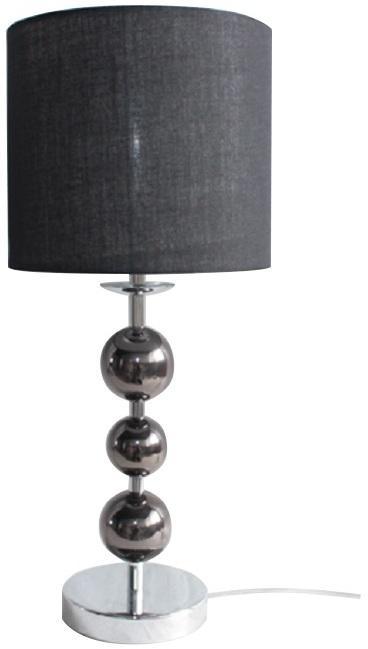 KONDELA Jade Typ 8 stolná lampa čierna / chrómová / sivá
