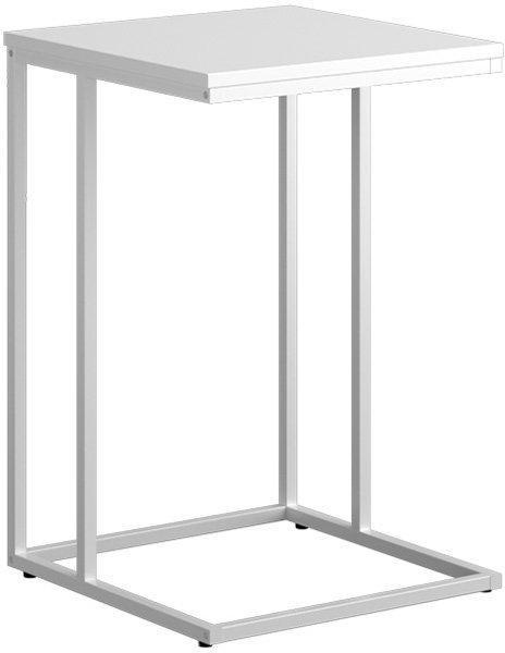 KONDELA Kala príručný stolík biela