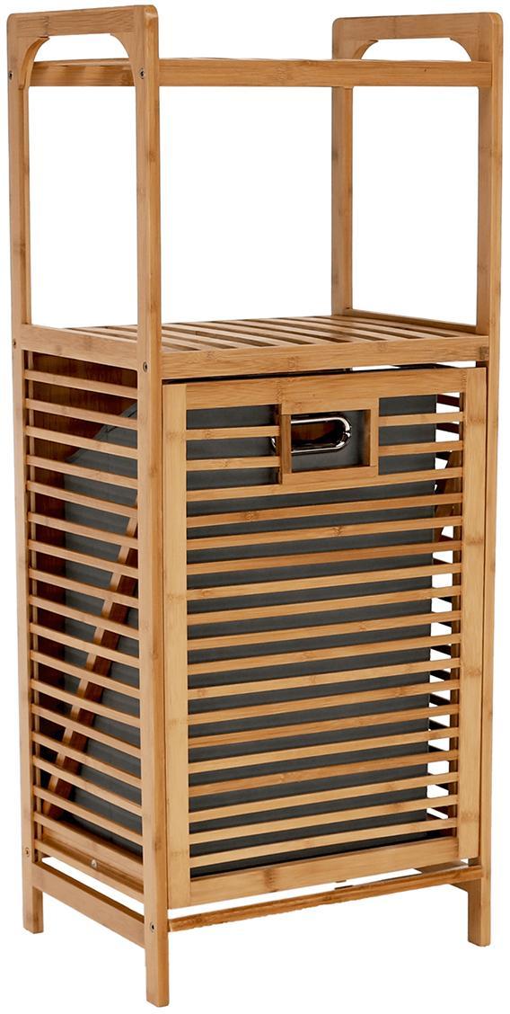 KONDELA Keri New kôš na prádlo bambus / sivá