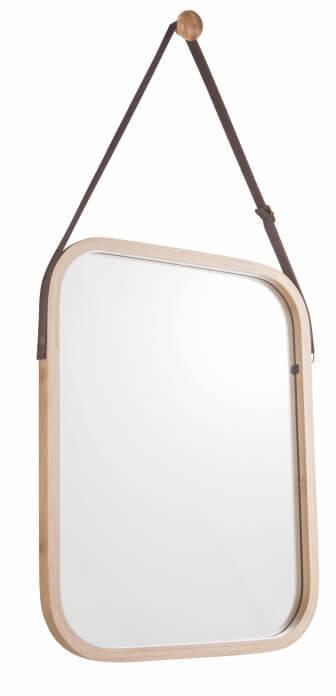 KONDELA Lemi 2 zrkadlo na stenu prírodná
