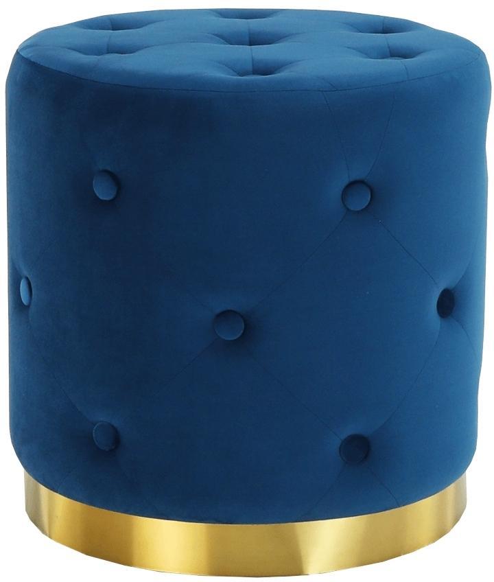 KONDELA Leonid taburetka kráľovská modrá / zlatá