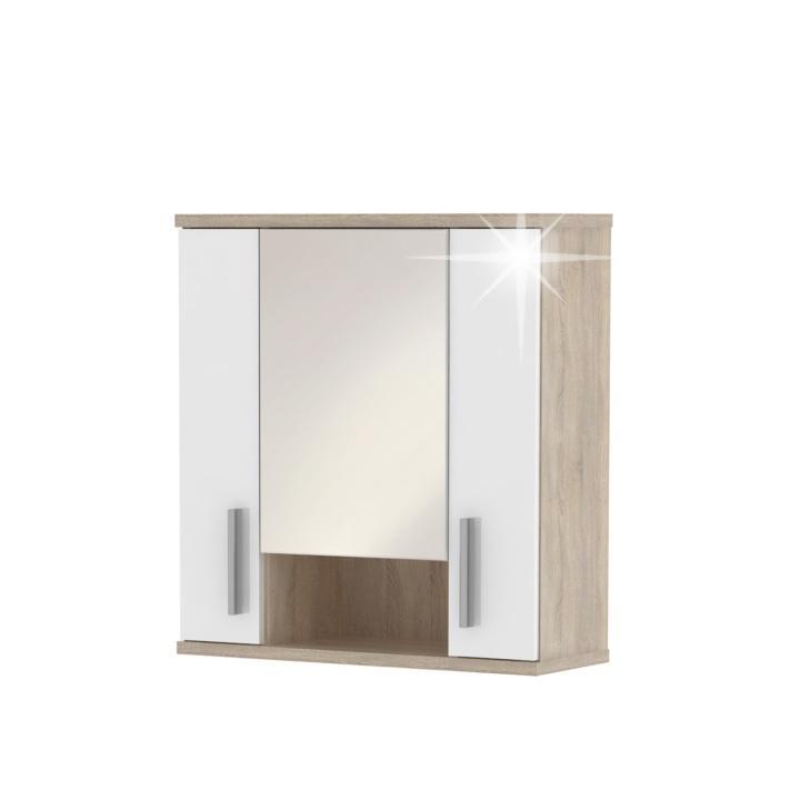 KONDELA Lessy LI 1 kúpeľňová skrinka na stenu dub sonoma / biela