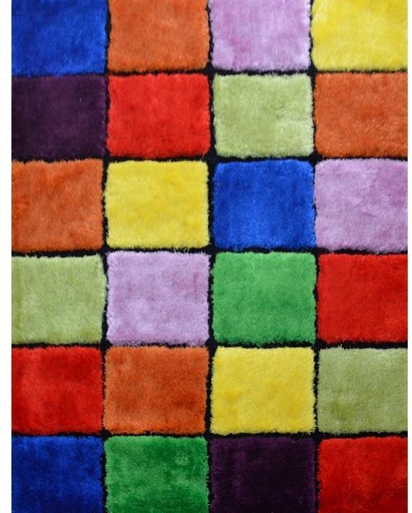 KONDELA Ludvig Typ 4 koberec 80x150 cm červená / zelená / žltá / fialová