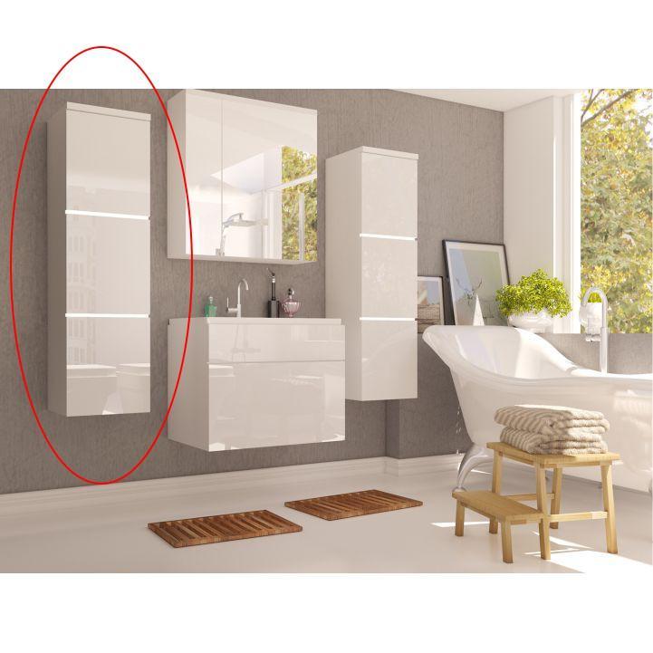 KONDELA Mason WH 11 kúpeľňová skrinka na stenu biela